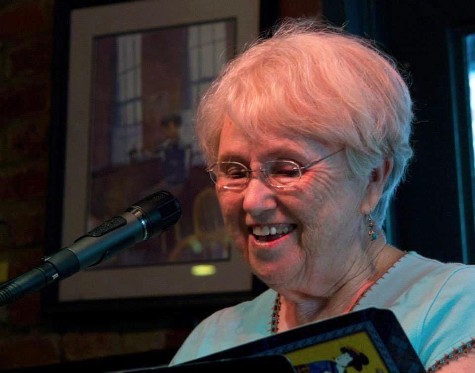 Diane at open mic